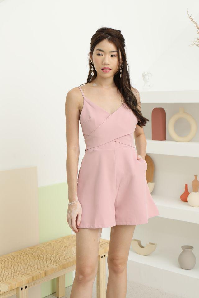 Shina Romper in Pink