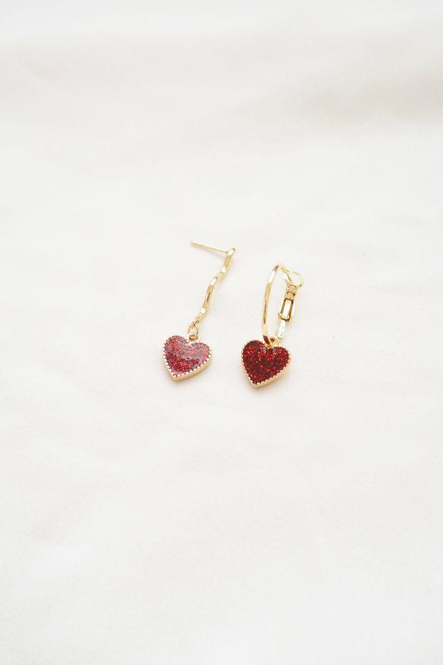 Mismatched Heart Earrings