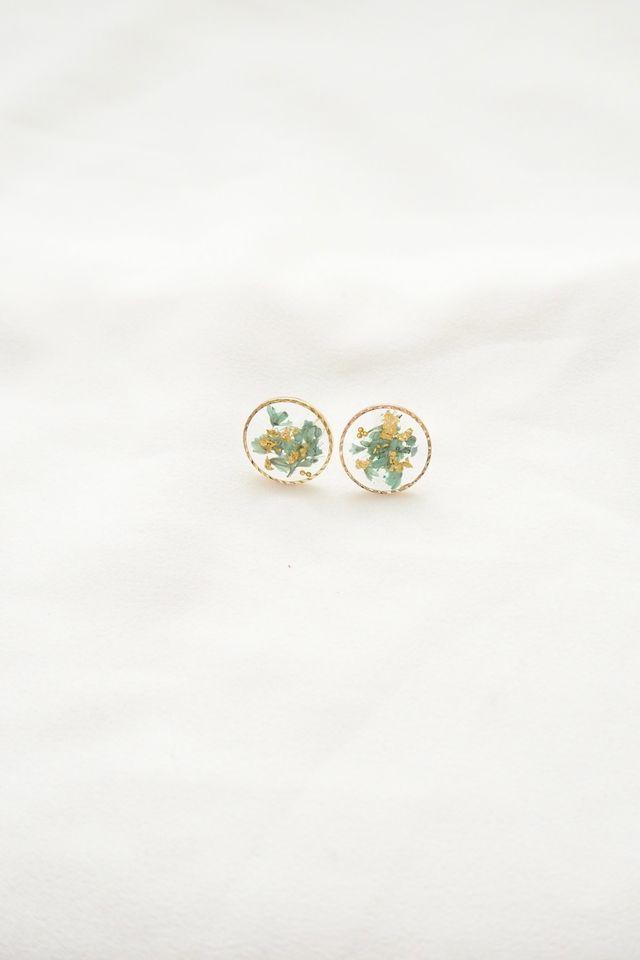 Tiani Flower Earstuds in Mint