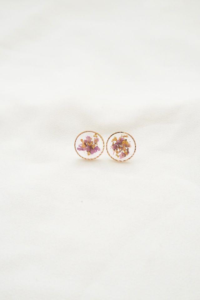Tiani Flower Earstuds in Lavender