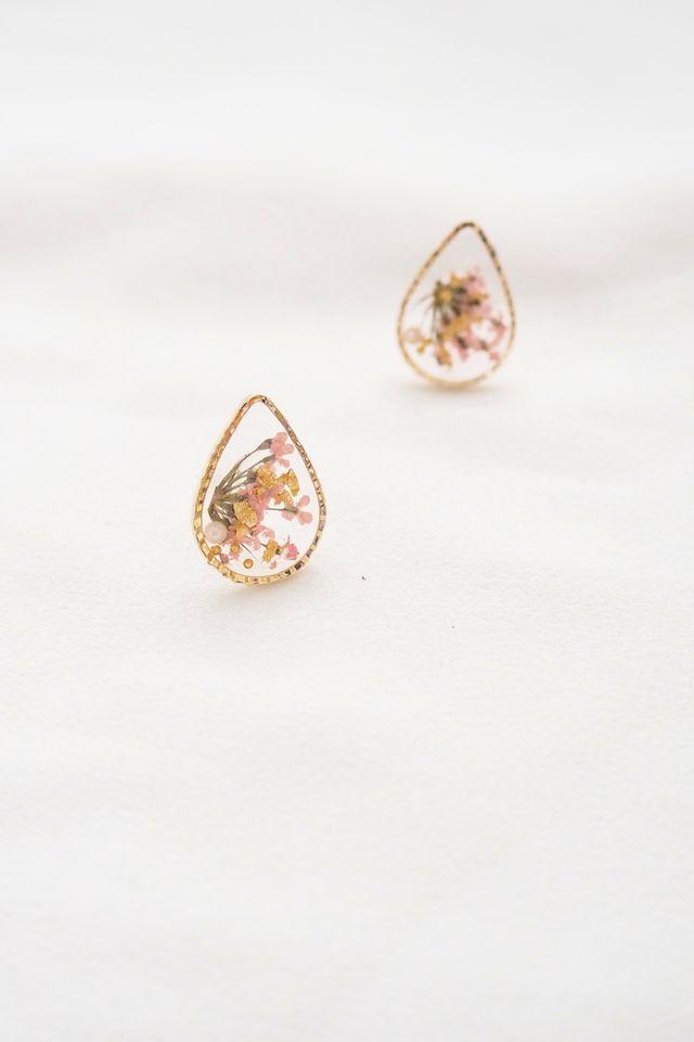 Milda Flower Earstuds in Pink