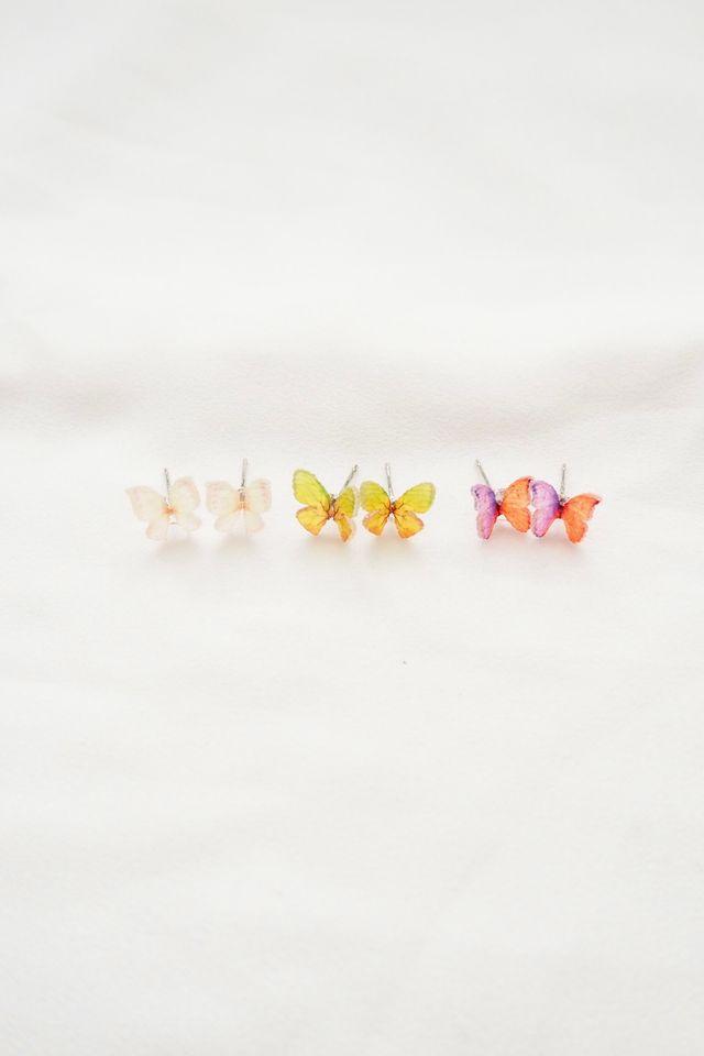 Mini Butterfly Earstuds Set in Multi