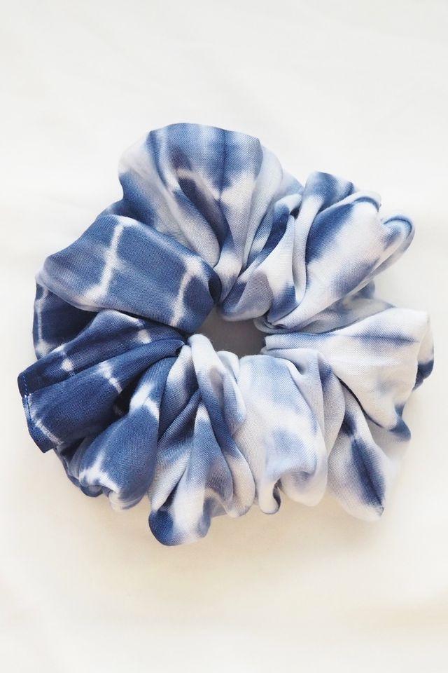 Large Fluffy Scrunchie in Tie Dye II