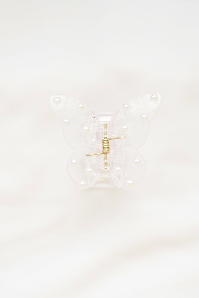 Large Butterfly Clip in Pearl