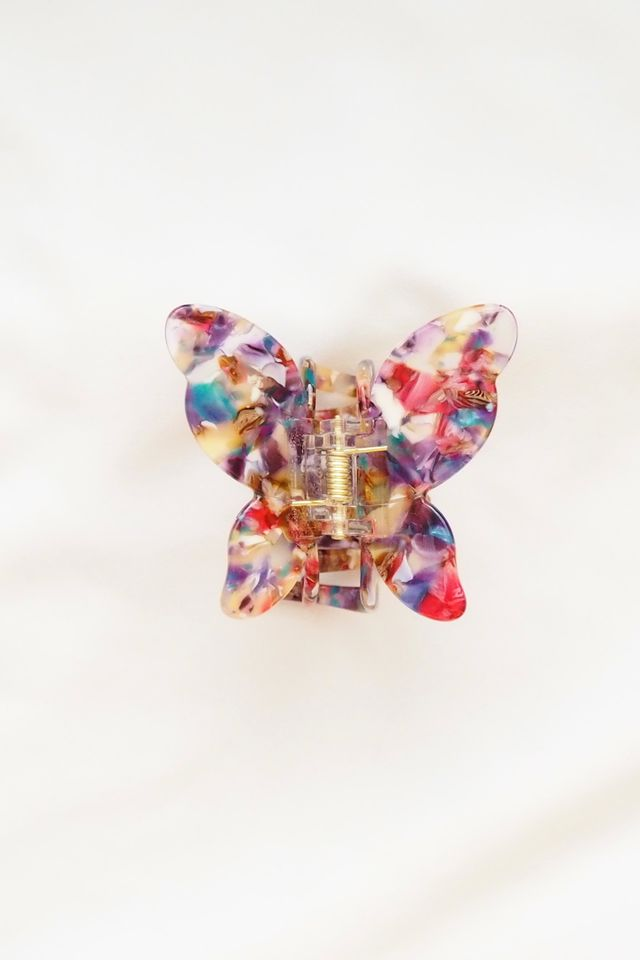 Large Butterfly Clip in Colourful