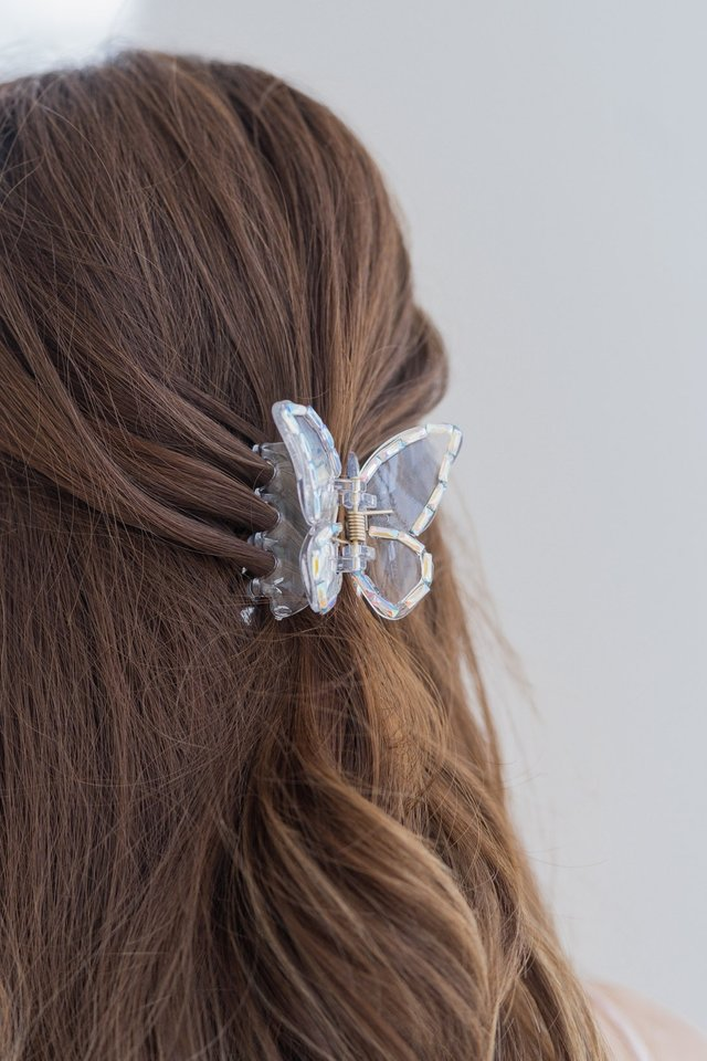 Large Butterfly Clip in Sparkle