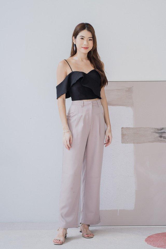Wide Leg Pants in Lilac Grey