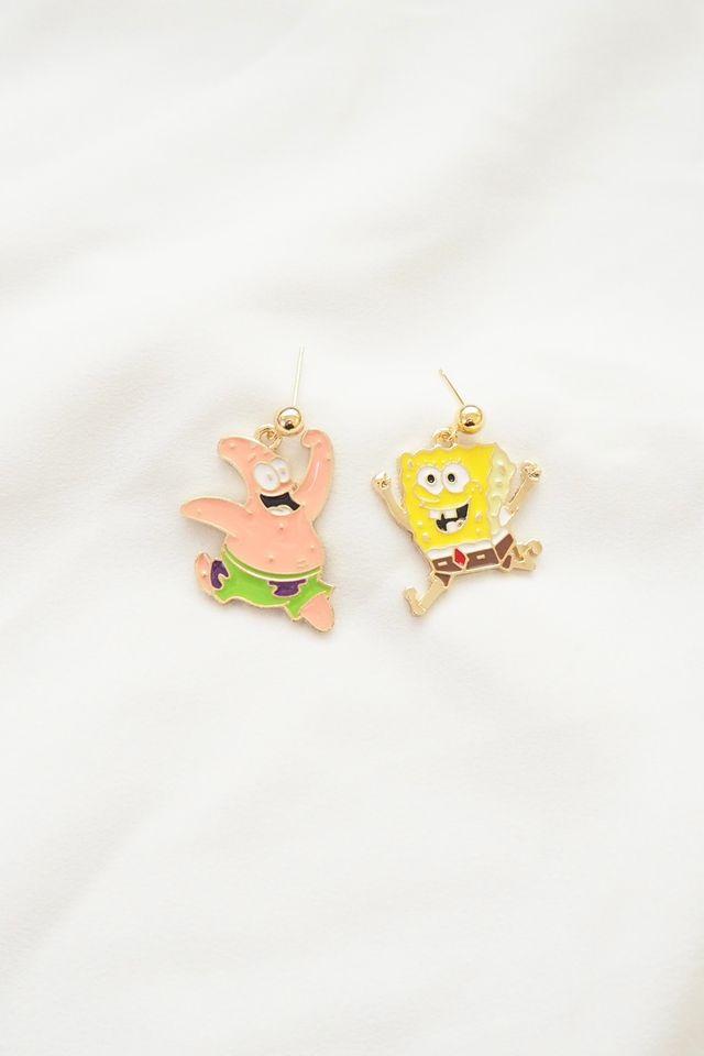 Spongebob & Patrick Earstuds