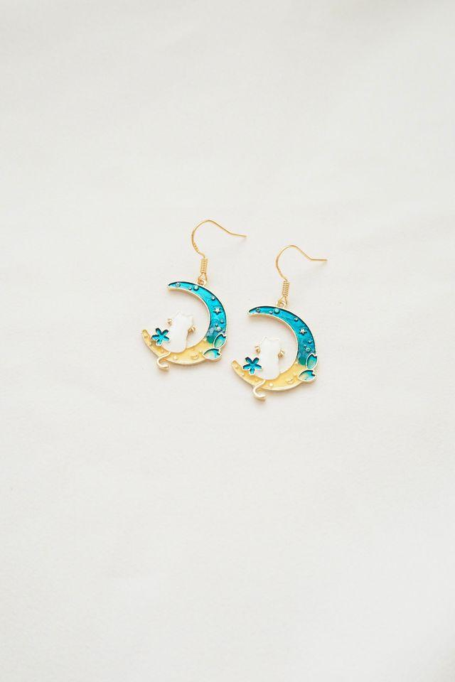 Galaxy Cat Earrings