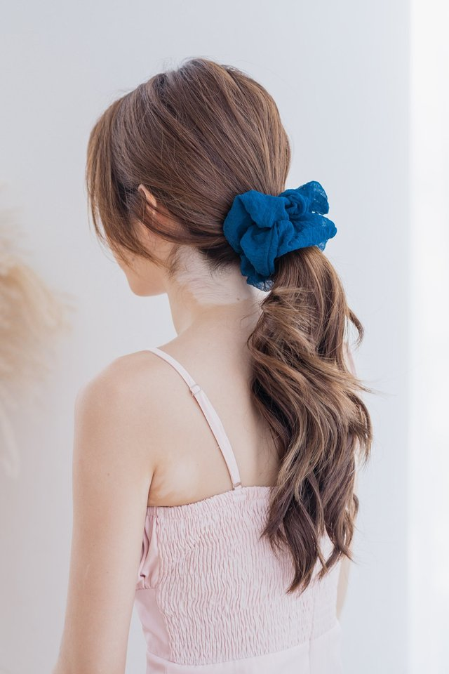 Large Fluffy Scrunchie in Teal