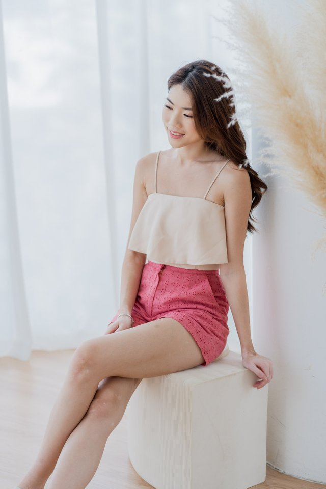 Maddie Basic Top in Nude