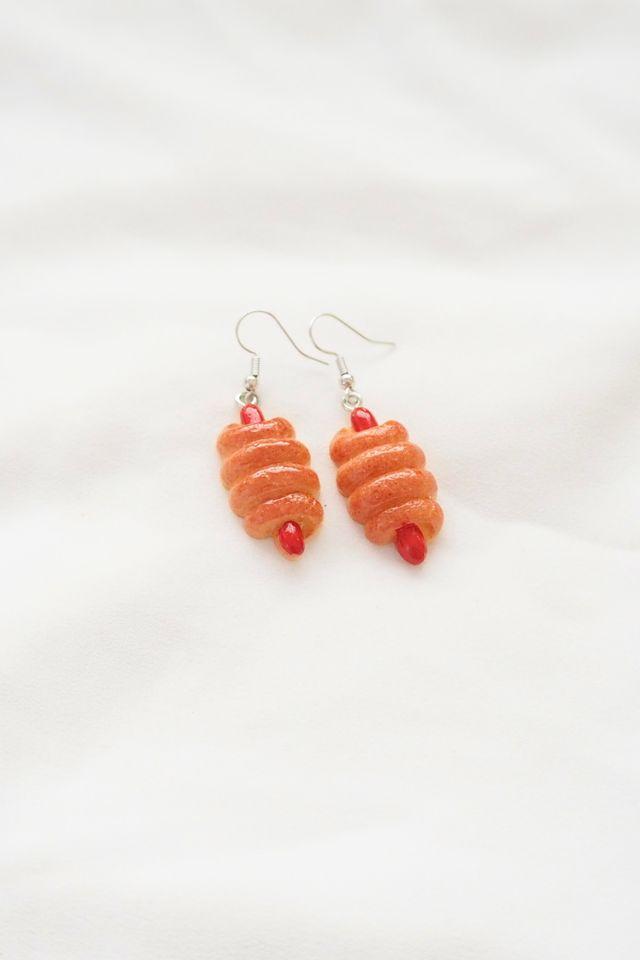 Hotdog Bun Earrings