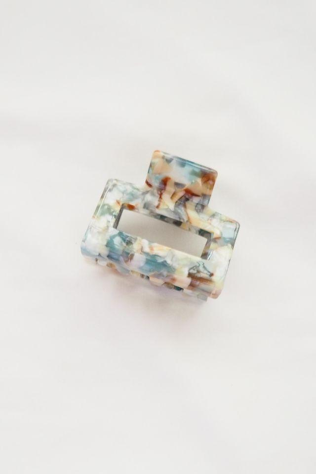 Rect Claw Clip in Blue Quartz