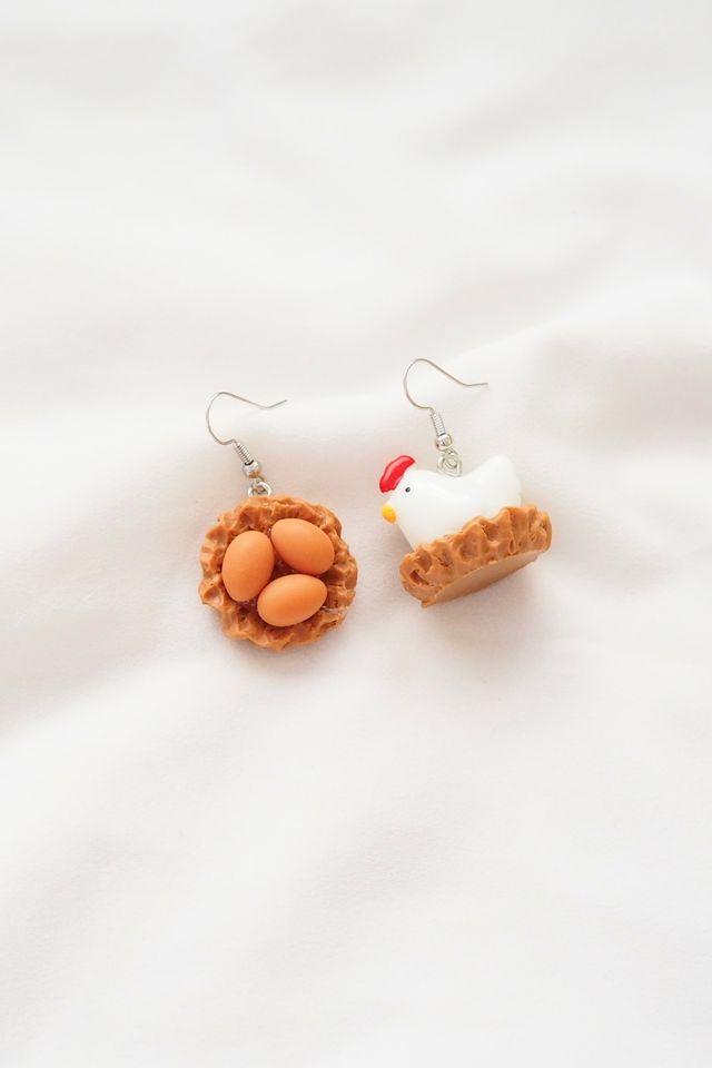 Chicken & Egg Earrings