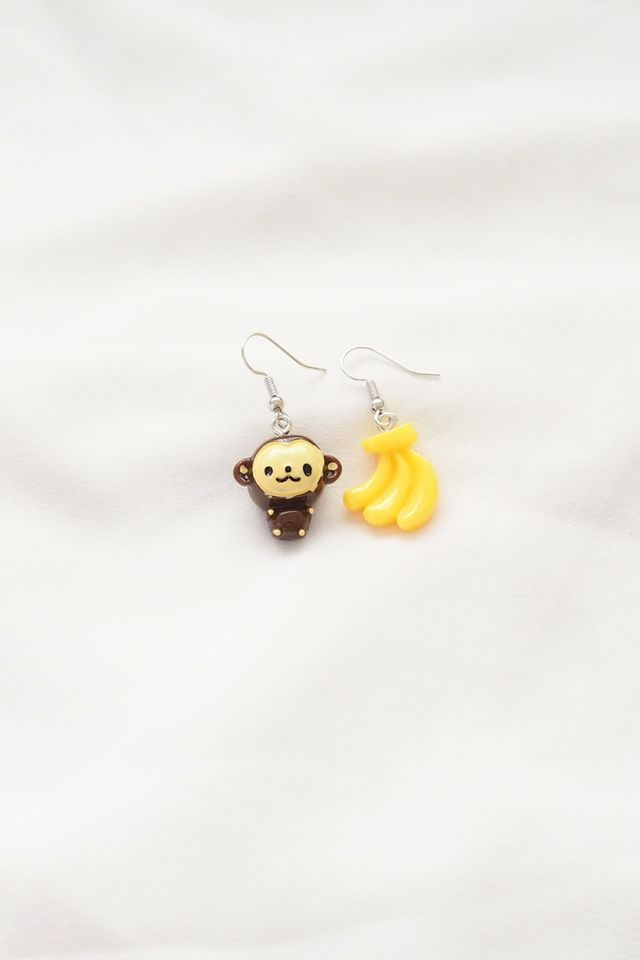 Monkey & Banana Earrings