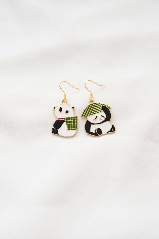 Mismatched Panda Earrings