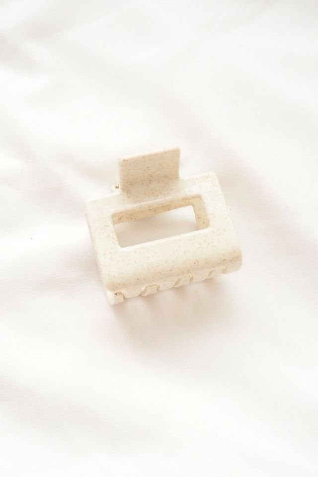 Rect Claw Clip in Oatmeal