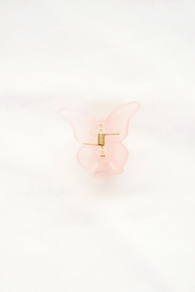 Small Butterfly Clip in Pink