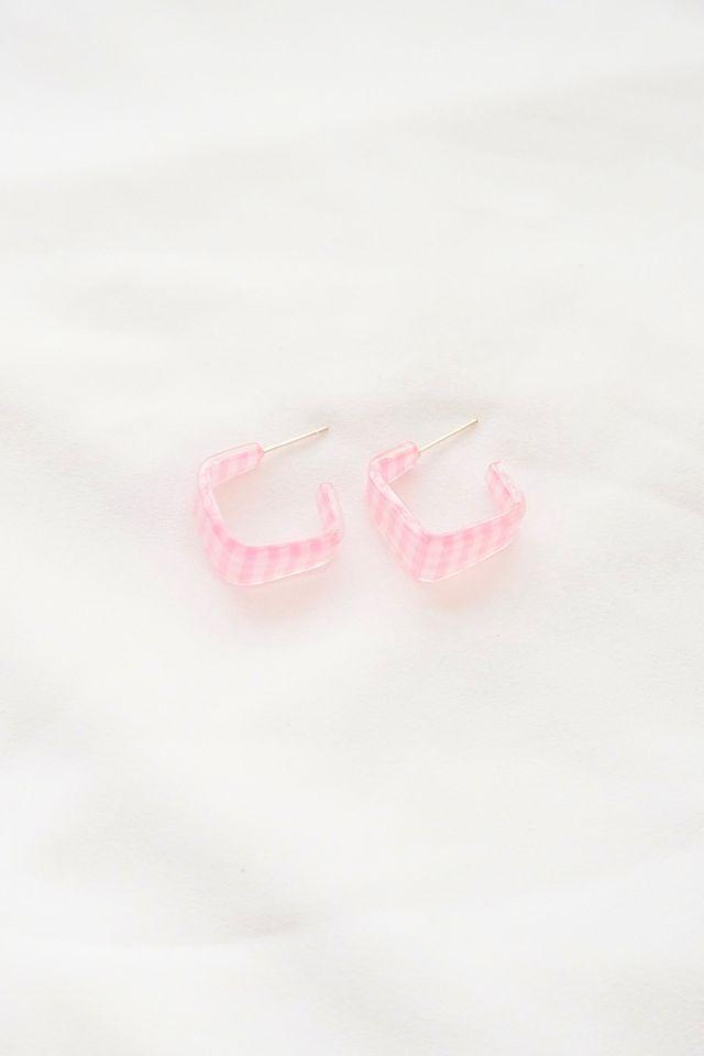Gingham Hoops in Pink