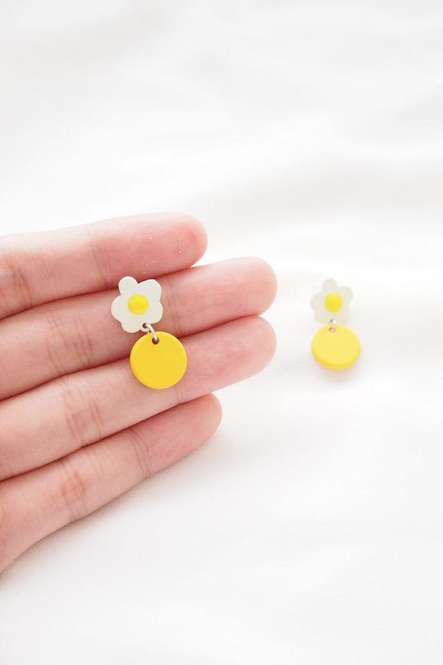 Mini Egg Flower Earstuds